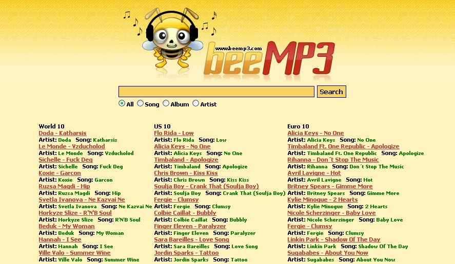 beemp3.com frontpage