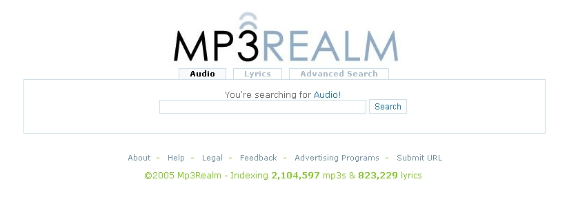 mp3realm.org frontpage