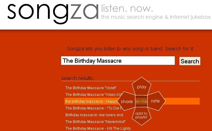 songza.com results